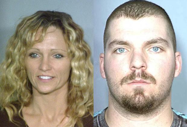 Amy Perason e Michael Bessey foram presos por tentar matar Robert Bessey (Foto: Departamento de Polícia de Las Vegas)