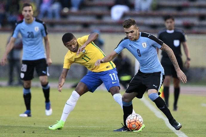 Uruguai x Brasil sub-20 David Neres (Foto: EFE)