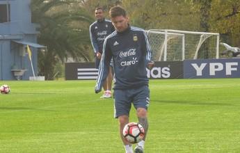 Após chegada, Messi faz apenas treino regenerativo; Masche integra coletivo