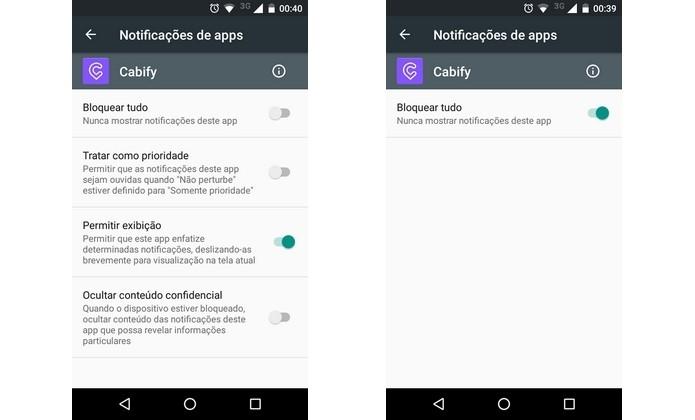 Android permite bloquear notificações de apps específicos (Foto: Reprodução/Raquel Freire)