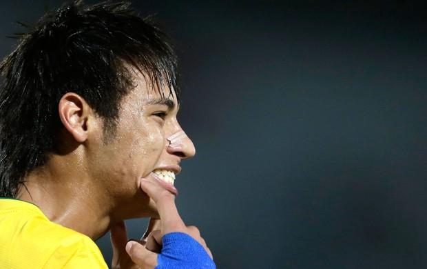 Neymar, Comemoração, Brasil x China (Foto: Agência AP)