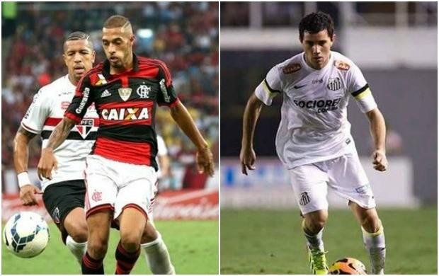 Flamengo e Santos se enfrentan neste sábado (4) (Foto: Reprodução/Globo Esporte)