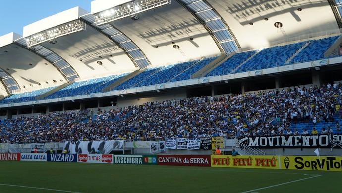 Torcida do ABC - ABC x CRB - Arena das Dunas (Foto: Augusto Gomes/GloboEsporte.com)