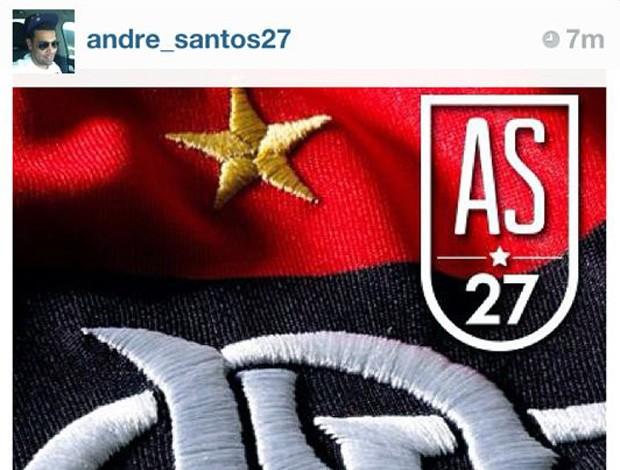 André Santos Flamengo retorno  (Foto: Reprodução / Instagram)