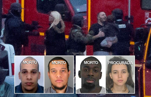 AO VIVO: polícia mata irmãos terroristas e sequestrador de Paris; jovem é procurada (Michel Euler/AP; Reuters)
