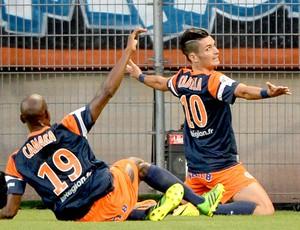 Remy Cabella comemoração gol Montepellier contra o PSG (Foto: AFP)