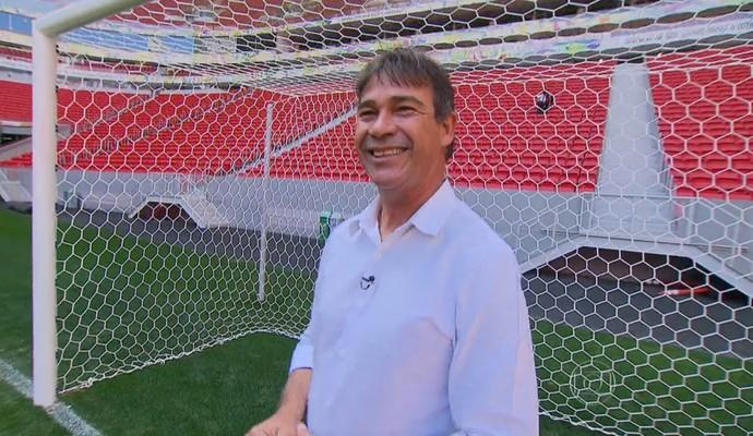 Ex-goleiro do Flu  e hoje comentarista Paulo Vitor (Foto: Reprodução TV Globo)
