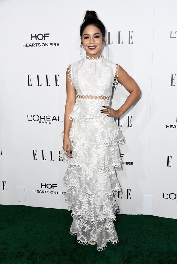 Vanessa Hudgens em premiação em Los Angeles, nos Estados Unidos (Foto: Frazer Harrison/ Getty Images/ AFP)