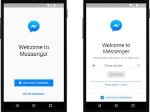 Messenger, do Facebook, permitirá a entrada de pessoas sem perfil na rede social. (Foto: Divulgação/Facebook)