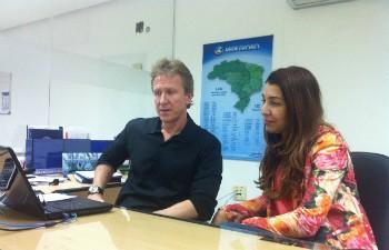 Internet é um mercado em constante expansão, diz Marcelo e Heleni. (Foto: Alexandre Fonseca/ Inter TV)