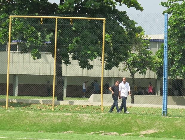 René Simões Ricardo Gomes treino Cefan Vasco (Foto: Raphael Zarko)
