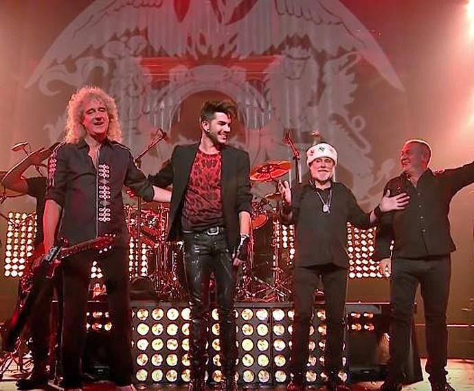 Queen se apresenta com Adam Lambert nos vocais no primeiro dia do Rock in Rio  (Foto: Reprodução)