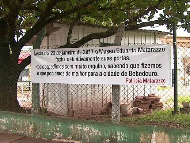 Administração anunciou fechamento do museu (Foto: Valdinei Malaguti/EPTV)