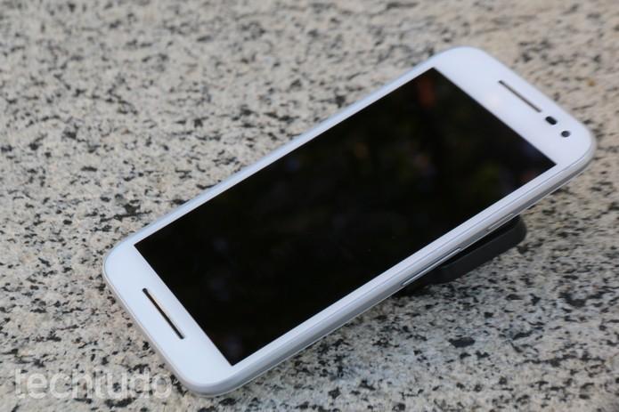 Moto G 3 tem processador quad-core de 1,4 GHz (Foto: Luana Marfim/TechTudo)