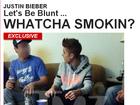 Justin Bieber é flagrado com cigarro suspeito na mão; veja fotos