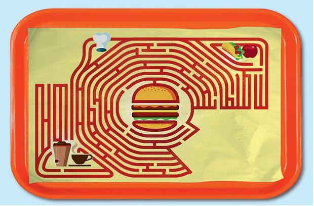 O McDonald's no labirinto (Foto: Ilustração: Nik Neves)