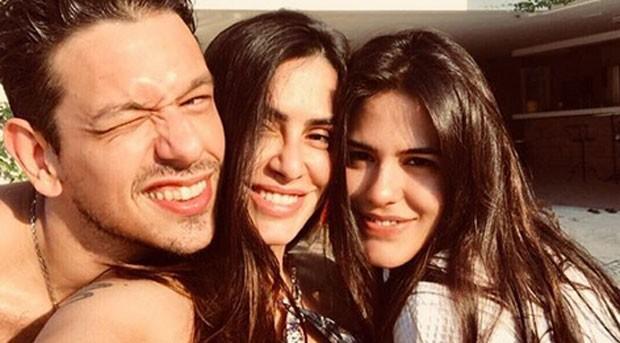 João Vicente de Castro, Cleo Pires e Antonia (Foto: Reprodução)