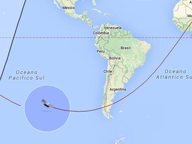 Nave russa Progress se desintegra ao reentrar na atmosfera da Terra (Foto: Reprodução/Satflare.com)