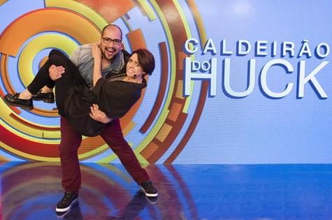 Tiago Abravanel e Renata Gaspar (Foto: Tata Barreto/TV Globo)