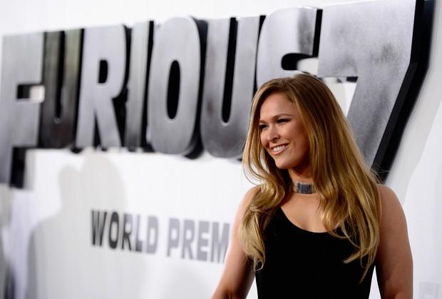 Ronda Rousey em première de filme em Los Angeles, nos Estados Unidos (Foto: Frazer Harrison/ Getty Images/ AFP)