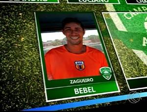 Bebel zagueiro Aurora destaque da rodada Campeonato Amador de Uberlândia (Foto: Reprodução/TV Integração)