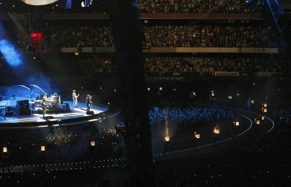 U2 se apresentou no Morumbi em 2011 (Foto: Rubens Chiri / saopaulofc.net)