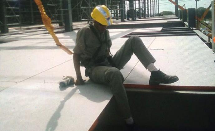 Operário Fábio Hamilton da Cruz, acidente na Arena Corinthians (Foto: Arquivo Pessoal)
