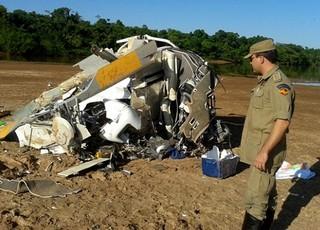 Helicóptero Helibrás HB-350BA Esquilo falecimento Fernandão (Foto: Divulgação / Corpo de Bombeiros de Goiás)