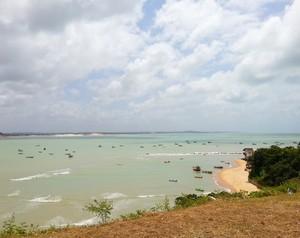 Vista do mirante para a Praia do Porto (Foto: Lidiane Medeiros)