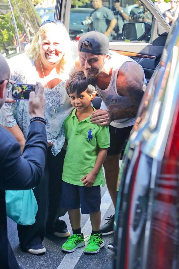 X17 - David Beckham em Los Angeles, nos Estados Unidos (Foto: X17online/ Agência)