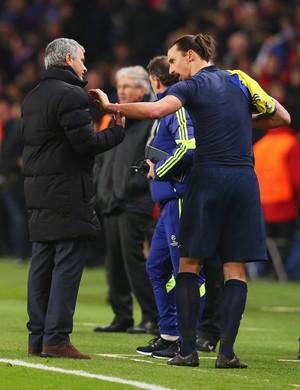 Ibrahimovic e Mourinho, PSG (Foto: Getty Images)