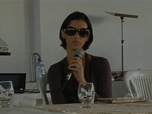 Mara Rúbia participou de um evento voltado às mulheres, em Araguaína (Foto: Reprodução/TV Anhanguera)