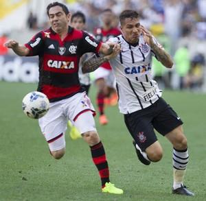 Chicão Flamengo Guerrero Corinthians (Foto: Daniel Augusto Jr / Agência Corinthians)