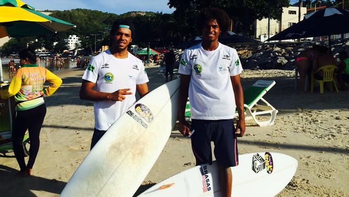Leonardo de Deus - Ponta Negra - Tobias e Lucas (Foto: Luiz Henrique/GloboEsporte.com)