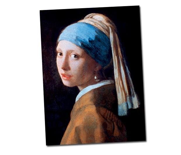 Conhecida como a Mona Lisa holandesa, a tela Moça com Brinco de Pérola, pintada em 1666 pelo mestre da luz Vermeer, comprova o poder natural da pérola de irradiar a luz verticalmente e, assim, iluminar a face (Foto:  )