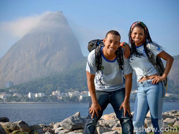 Jeniffer Nascimento e Antônio Carlos serão dupla inseparável (Foto: Raphael Dias / TV Globo)