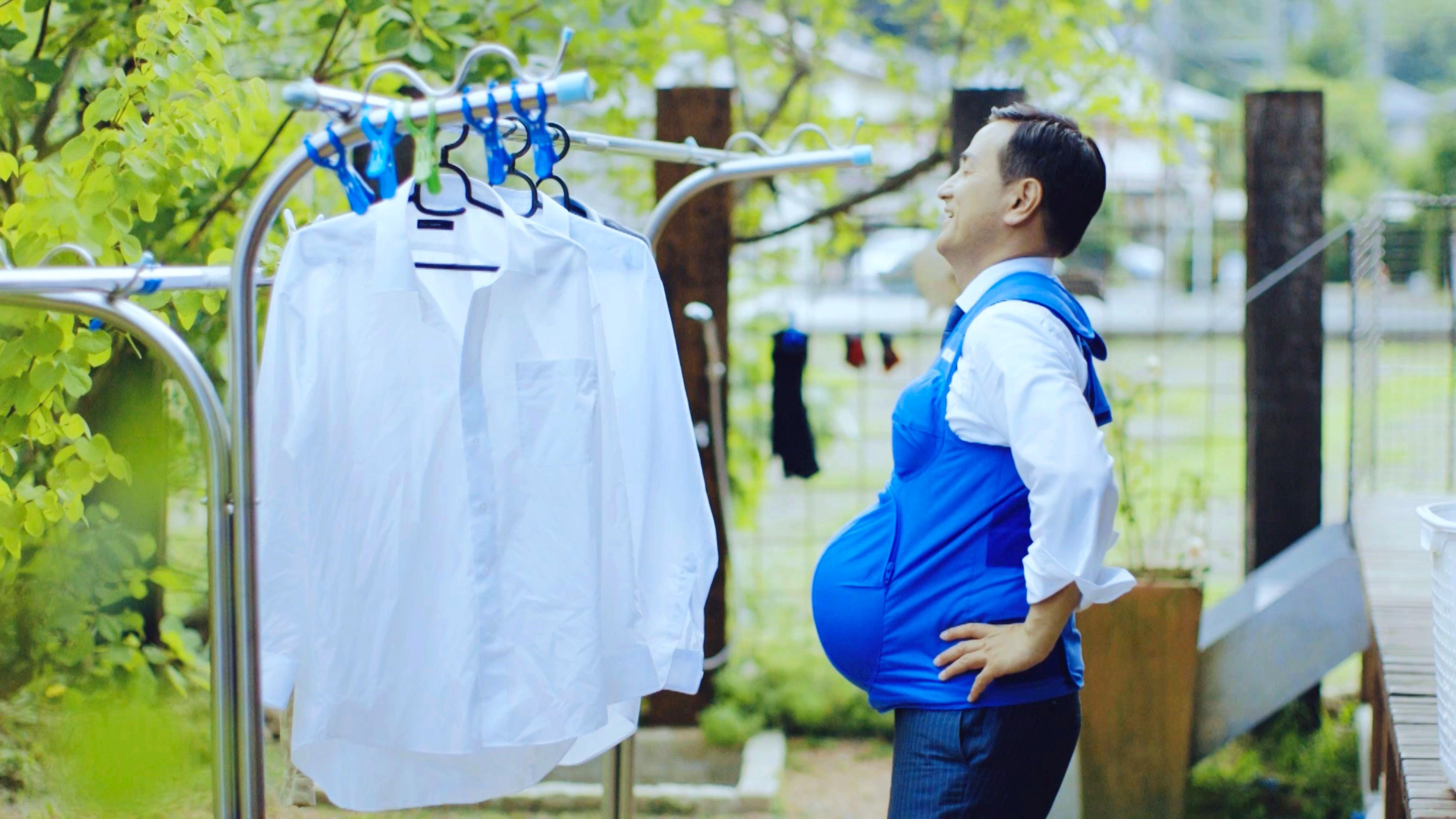 Políticos japoneses simulam gravidez