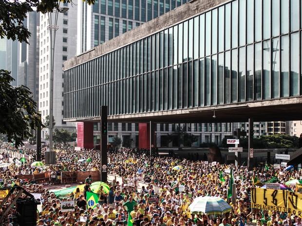 Manifestação contra o governo Dilma na Av Paulista. (Foto: Andre Lessa/ÉPOCA)