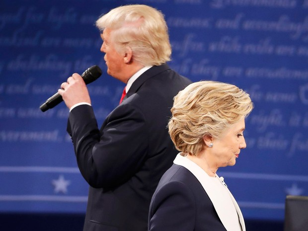 Debate Hillary e Trump (Foto: Reuters)
