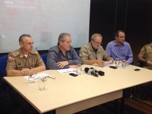 Governo de SC montou cúpula de segurança  (Foto: Mayara Cardoso/Divulgação)