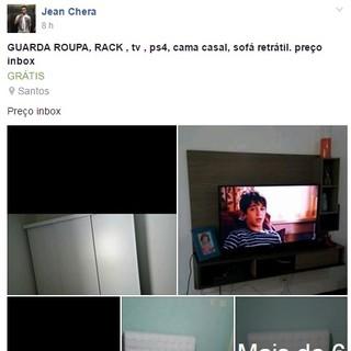 Jean Chera móveis facebook (Foto: Reprodução)