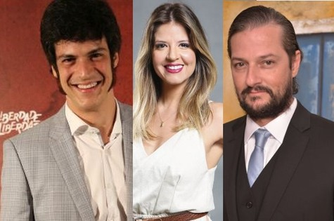 Mateus Solano, Mariana Santos e Marcelo Serrado (Foto: TV Globo)