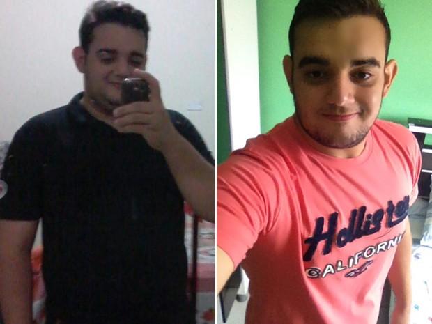 Thiago chegou a pesar 122 kg; hoje, tem 89,5 kg. (Foto: Thiago Lustosa Cabral/Arquivo pessoal)