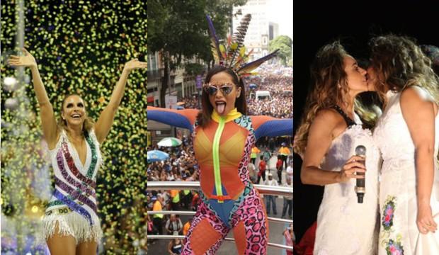 Ivete Sangalo, Anitta e Daniella Mercury (Foto: Raphael Mesquita/Brazil News | Alex Yamane /agfpontes/divulgação | Marcos Serra Lima / Ego)