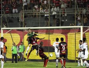 Josué marca primeiro gol do Vitória na goleada sobre o Atlético-MG (Foto: Francisco Galvão/Esporte Clube Vitória)