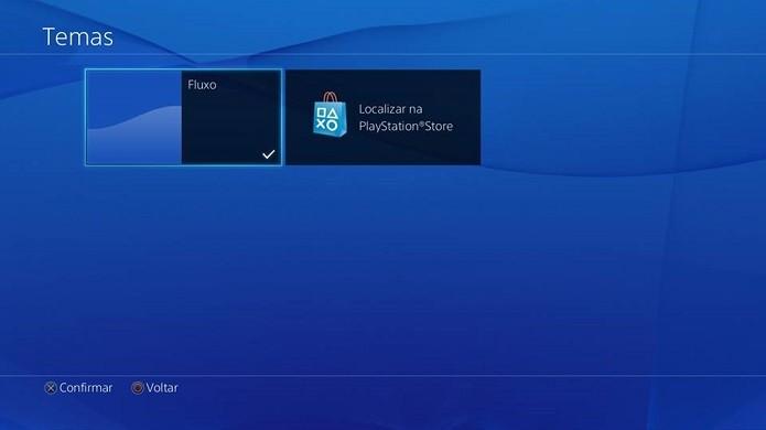 Escolha como quer personalizar o PS4 (Foto: Reprodução Thiago Barros)