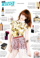 Cremes, batons e filtro solar: veja os produtos de beleza de Florence Welch