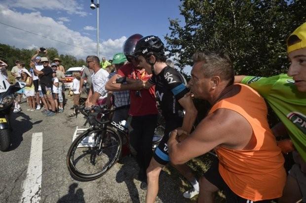 ciclismo queda Garaint Thomas Volta da França (Foto: Presse Sports / Tour de France)