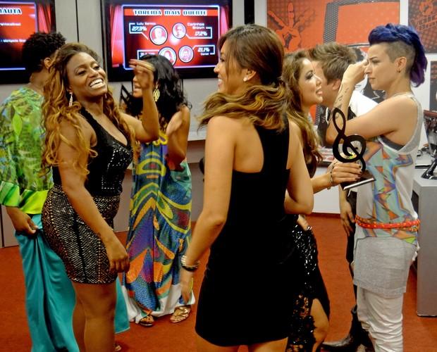 Finalistas comemora Bate-Papo (Foto: The Voice Brasil/TV Globo)