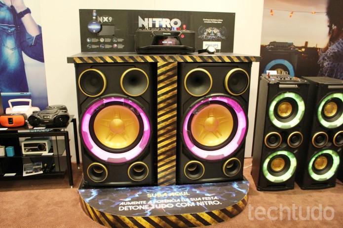 Mini system NX9, da Philips (Foto: Tassia Moretz/TechTudo)